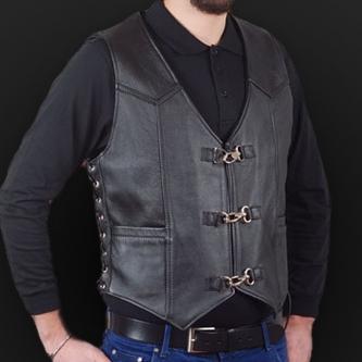 Leather vest m01k