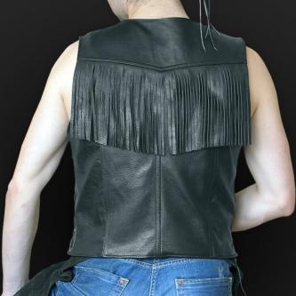 Leather vest m02
