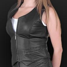 Leather vest m05