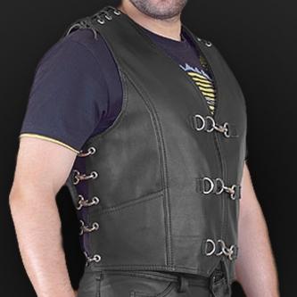 Leather vest m10