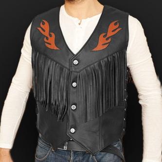 Leather vest m12