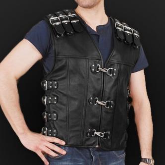 Leather vest m13