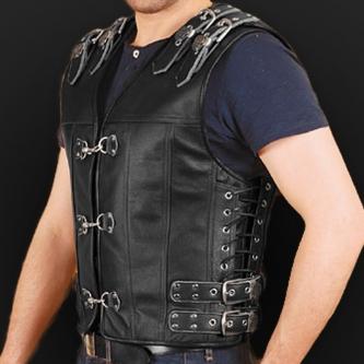 Leather vest m14