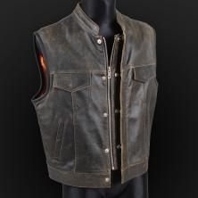 Leather vest m18 olive