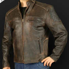 Motorcycle jacket K25sa brown