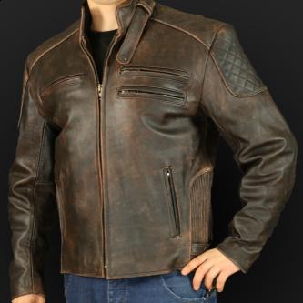 Motorcycle jacket K25sa brown