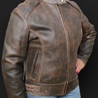Motorcycle Jacket K36 Brown