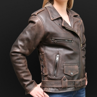 Motorcycle Jacket K02d Brown