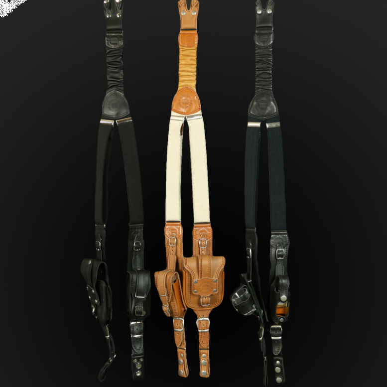 Suspenders for motorcyclists